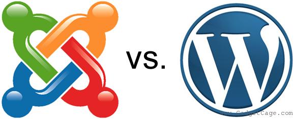 joomla och wordpress logos
