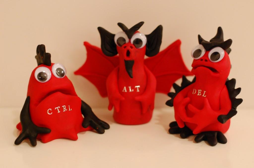 tre röda demoner