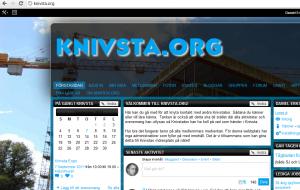 skärmdump från knivsta.org