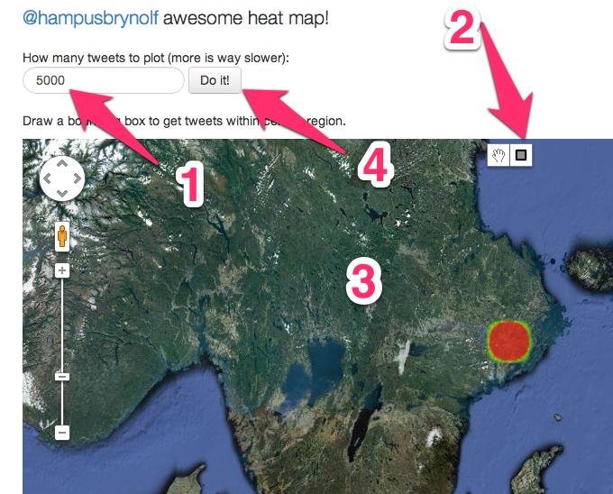 Beskrivande bild av grafiska gränssnittet för Twittercensus heatmap