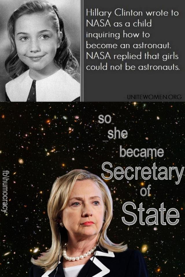 Hillary Clinton som ung och i nutid