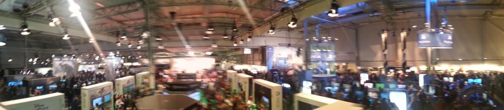panoramabild över Gamex