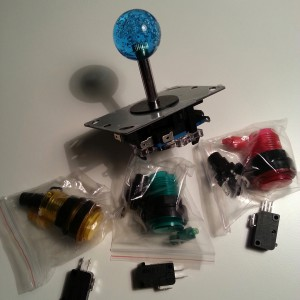 Joystick och knappar för hemmabygge