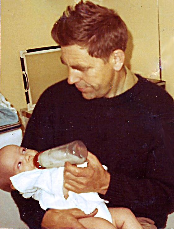 Jag och morfar sommaren 1970